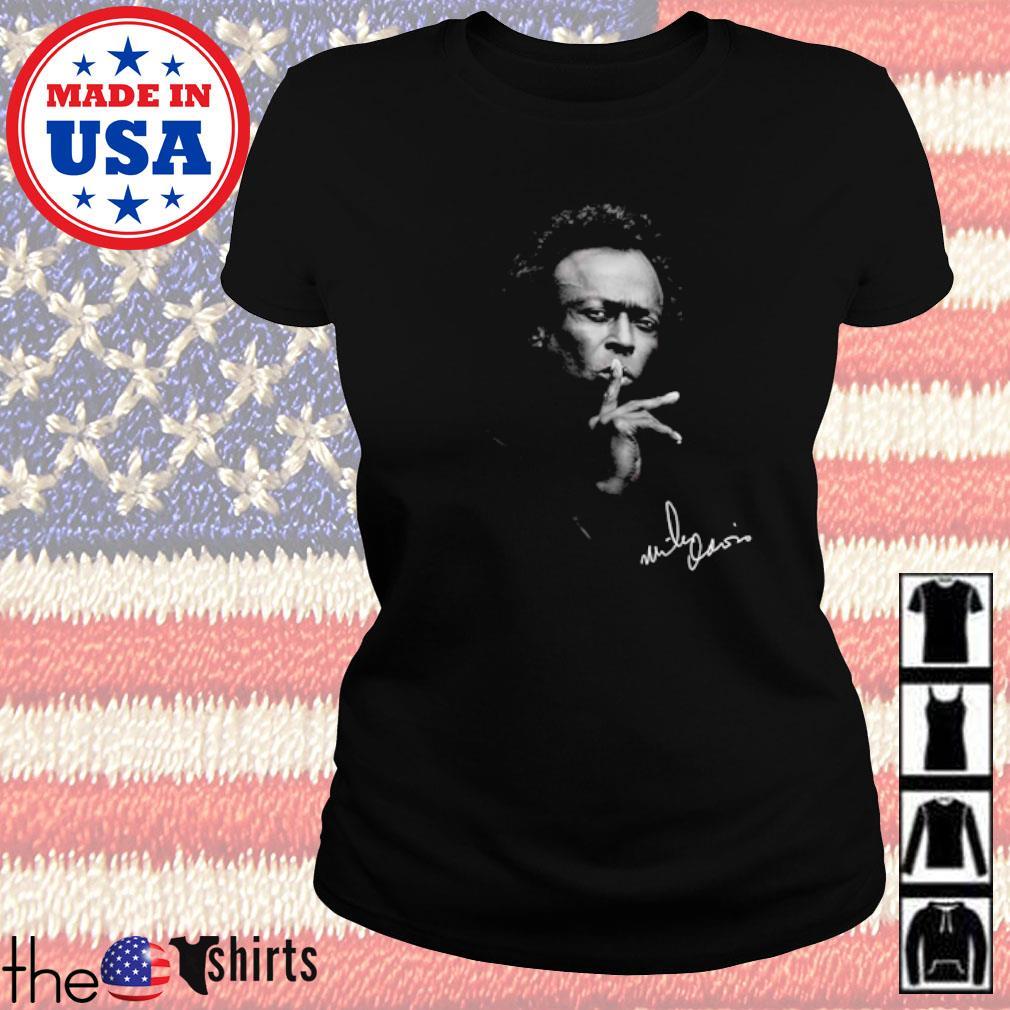 Miles Davis American jazz trumpeter s Ladies tee