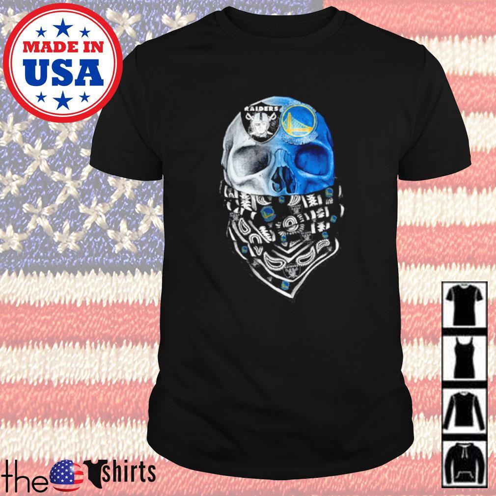 Skull cowboys Las Vegas Raiders and Golden State Warriors shirt