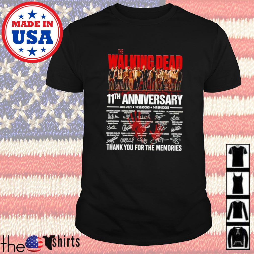 The Walking Dead 11th anniversary 2010-2021 10 seasons 147 episodes signatures shirt