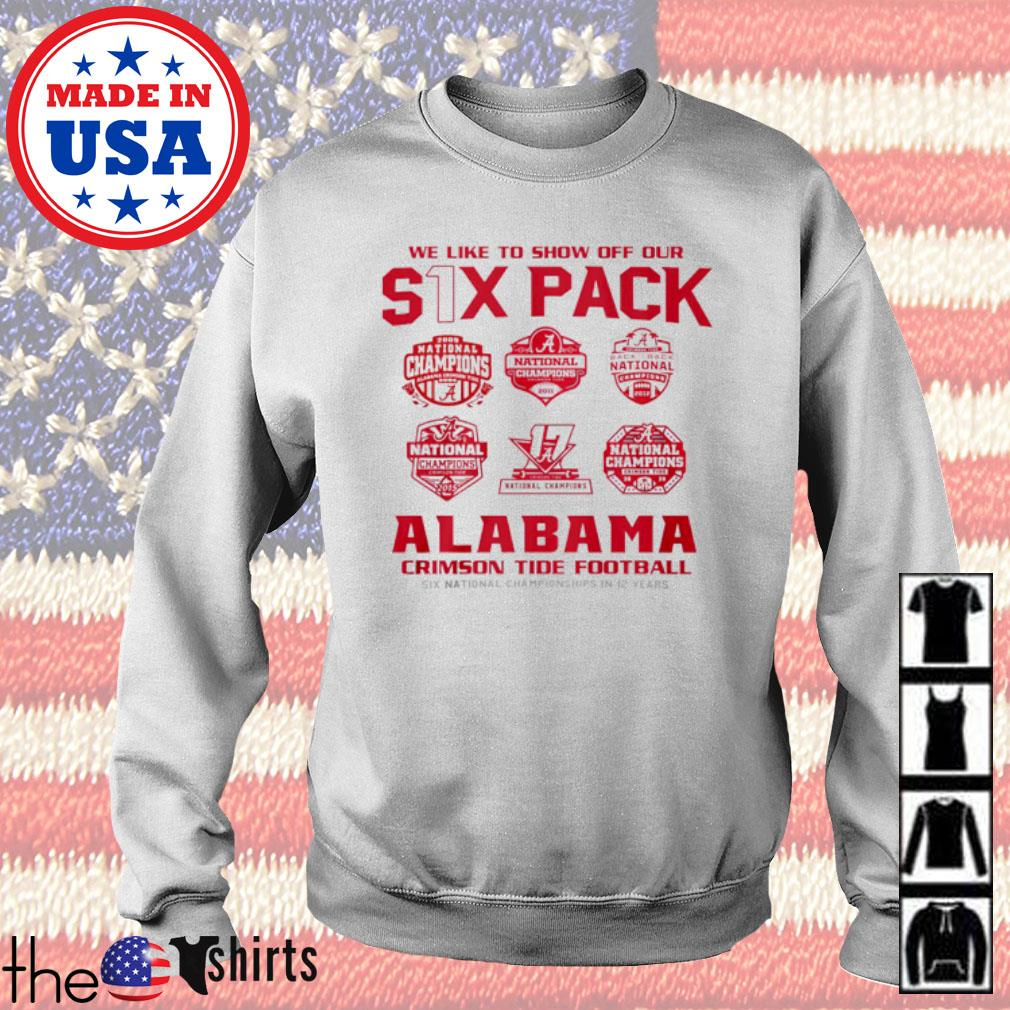 We like to show off our six pack Alabama Crimson Tide Football s Sweater