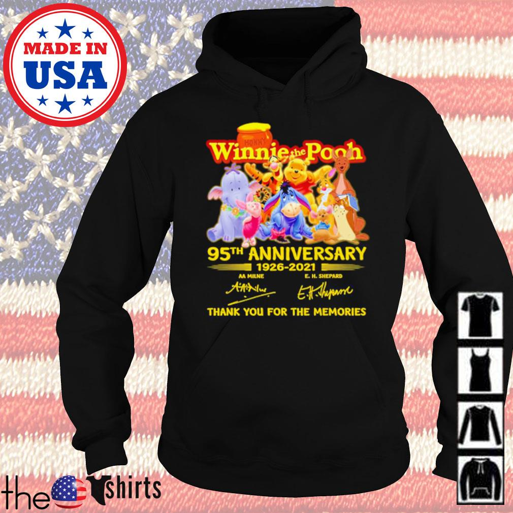 Winnie the Pooh 95th Anniversary 1926-2021 thank you for the memories signatures s Hoodie