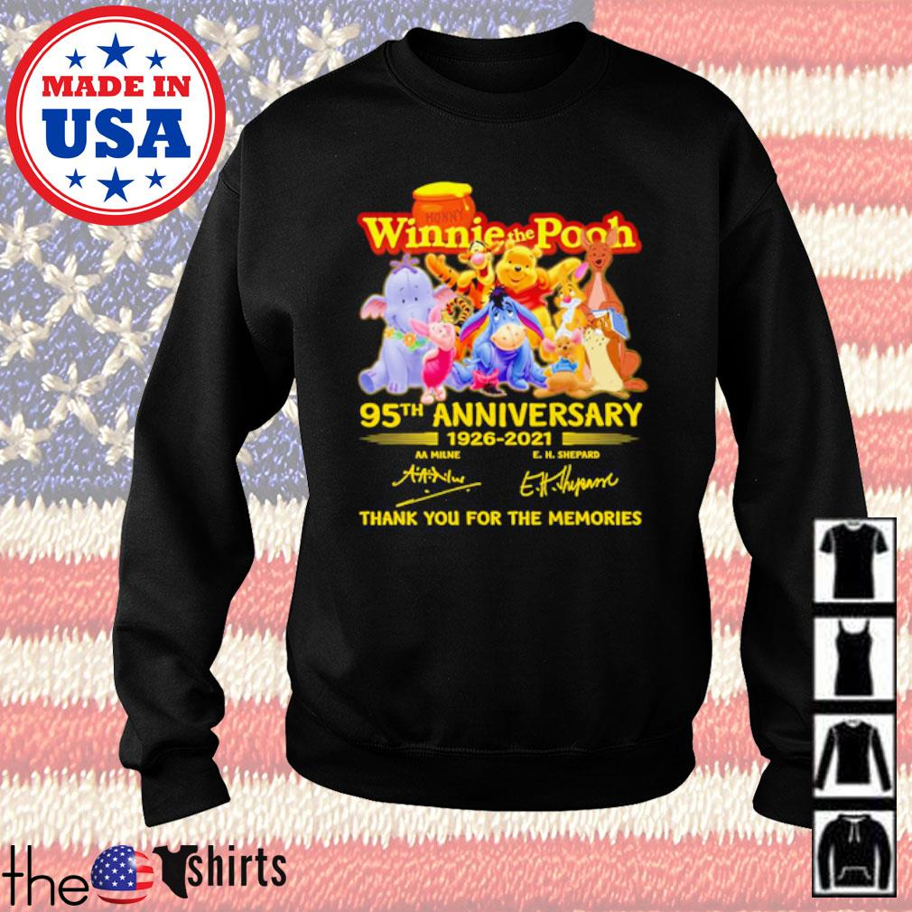 Winnie the Pooh 95th Anniversary 1926-2021 thank you for the memories signatures s Sweater