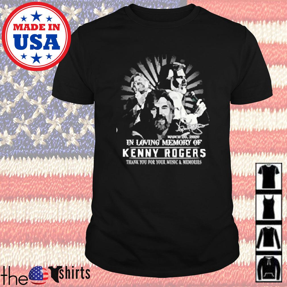In loving memory Kenny Rogers thank you for your music and memories shirt