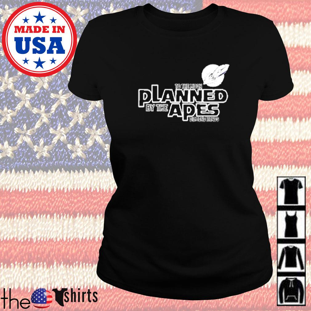 To the moon planned by the apes diamond hands s Ladies tee