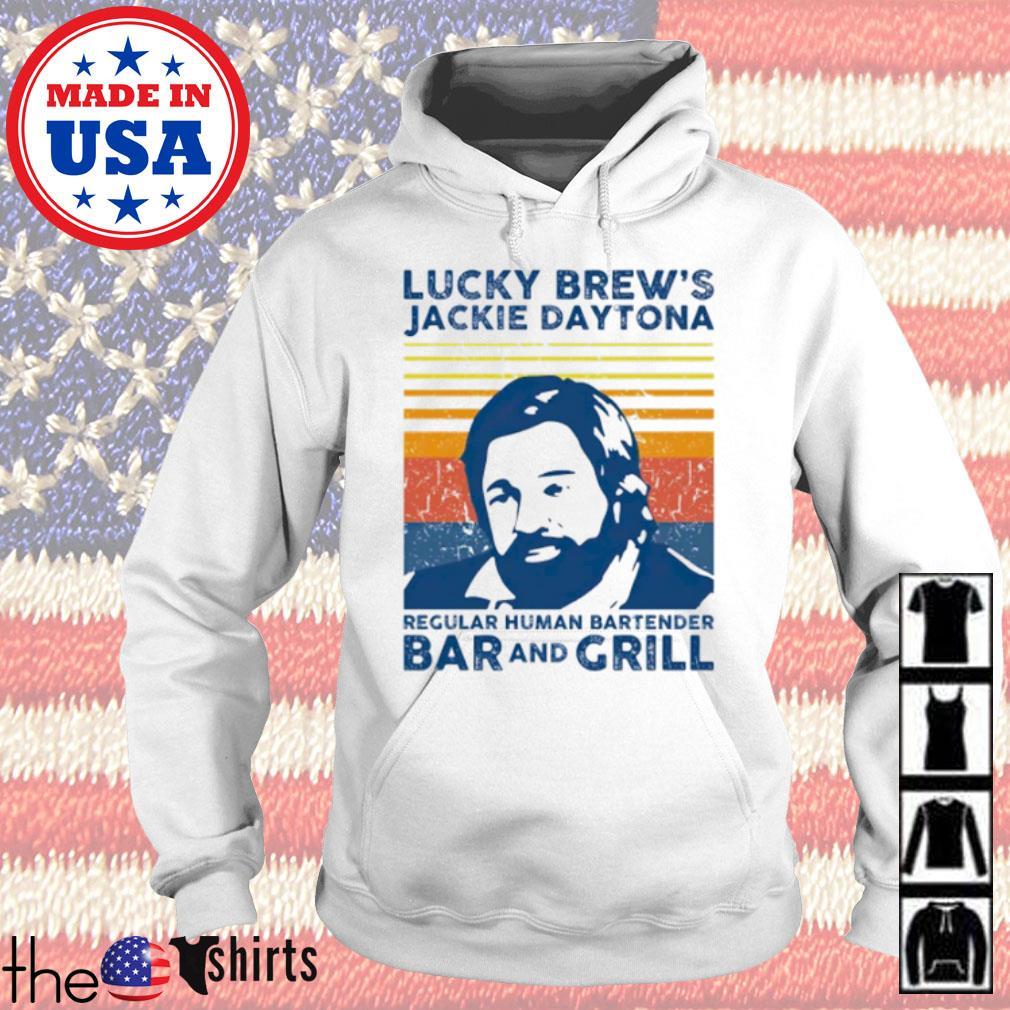 Vintage lucky Brew's Jackie Daytona regular human bartender bar and grill s Hoodie